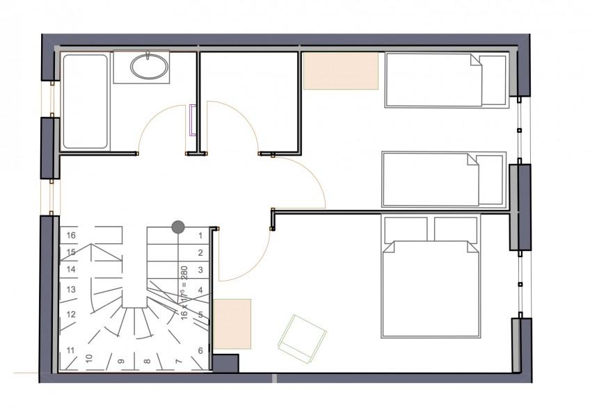 Plan étage location Bandol